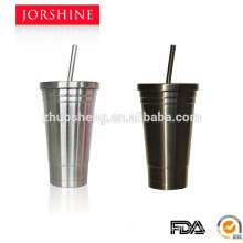 new design hot sell stainless steel straw tumbler