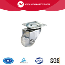 Plaat Swivel transparante industriële Caster