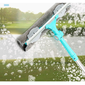 Fang Xiaoya telescopic rod double-sided brushing scraper high-rise cleaning window cleaning tool glass artifact household