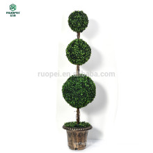 Árbol de bolas topiary artificial en maceta de yiwu para decoración de jardín