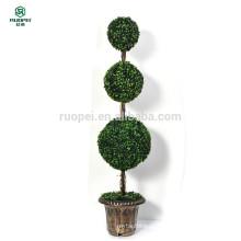 yiwu potted artificial topiaria bola árvore para decoração de jardim em casa