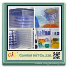 Haute qualité souple transparent différentes largeur PVC bande de Rideau
