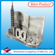 Мягкий эмаль цинковый сплав 3D визитная карточка владельца