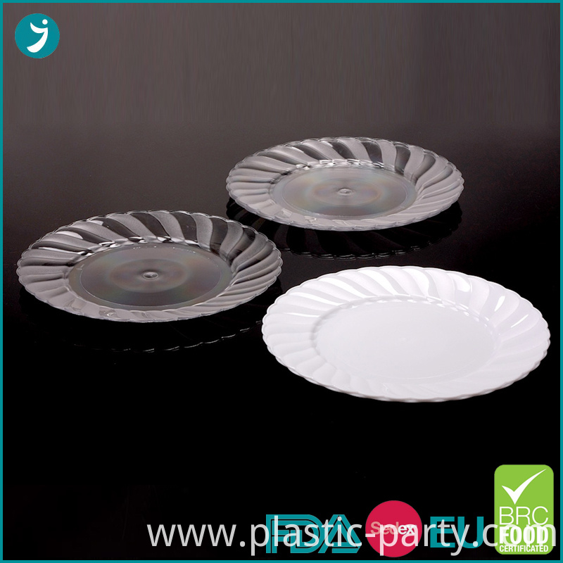 7.5 Inch Disposable Plastic Plates Party Scalloped
