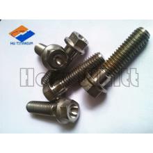 high quality titanium hex flange screw/bolt