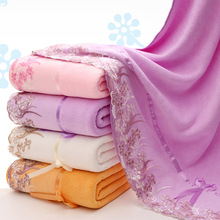 Microfiber embroidery cartoon water absorption adult towels