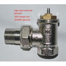 Válvula de radiador termostática de ângulo tipo automático