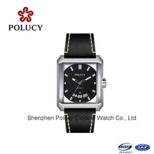 Men′s Skeleton Automatic Mechanical Leather Wrist Watches for Men
