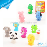 Vinyl Rubber Zoo Animals Toys For Kids