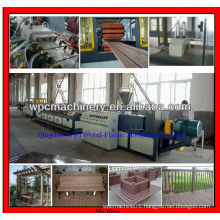 plastic wood wpc door profile extrusion line