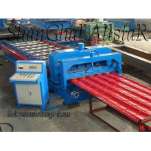 Light industrial glazed tile roof roll forming machine/ roofing tile sheet