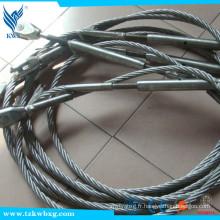 304 cordage en acier inoxydable 16 mm 7x19
