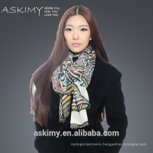 Digital printed fashion scarf 2015