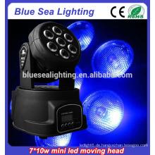 Bester Preis 7x10w rgbw 4in1led beweglicher Kopf rgbw waschen Licht