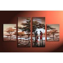 Pintura al óleo del paisaje en la lona para la decoración casera Ar-006