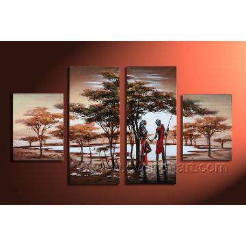 Paisagem pintura a óleo sobre tela para decoração Home Ar-006
