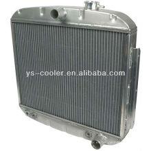 Placa de aluminio y barra de agua en rdiator / excavadora radiador de agua