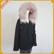 Jsfur Wholesale Design Clothes Women Winter Parka Fur Jacket