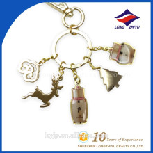 Fashion Bling Multiple Pendants Chain Keychain