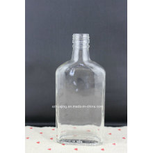 250ml 8oz Flat Liquor Glass Bottle