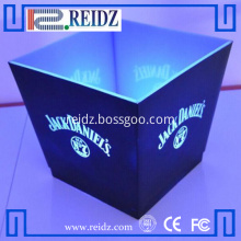 Square shape led light up cooler ice box
