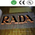 Alta qualidade LED Back Lit letras sinais e sinais luminosos