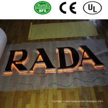 High Quality LED Acrylic Backlit Advertising Letter Sign Logo