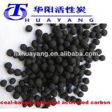 900mg / g min Valor de iodo carvão esférico a base de carvão para purificação de gás