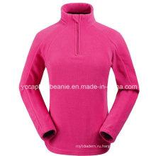 Дешевые 1/4 Zip женщин Полярная куртка флиса