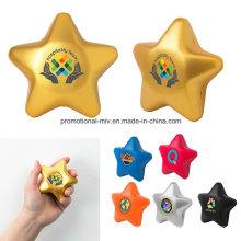 Werbungs-Druck-Ball PU-Spielwaren betonen sternförmige Spielwaren