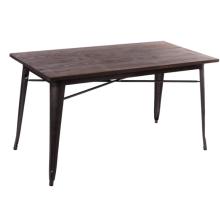 Restaurante muebles madera rectángulo mesa de comedor moda diseño
