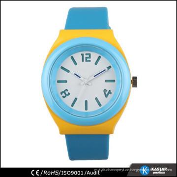 Chinesische Uhrmacher japanische Quarz mans Uhr Leder