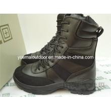 Hochwertiger schwarzer taktischer Stiefel für Militär und Armee