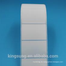 niedriger Preis angepasst Papier Material Plain Label Aufkleber
