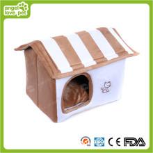 Stuffed Comfortable White Color Plush Pet House (HN-pH333)
