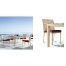 Mesa de jantar de vime e cadeira (7040)