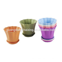 2015 New & Colourful Flower Pot with bottom base