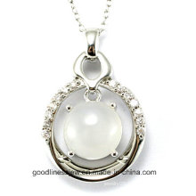 High Quality and Newly Fashion Pure 925 Sterling Silver Round Stone Pendant Wholesale P4993