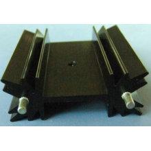 Precision CNC máquinas radiador com anodizado preto