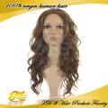 Perruques de cheveux humains de cheveux humains brésiliens de Vierge de cheveux humains brésiliens