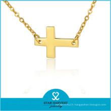 Collier de chaîne épaisse de collier en argent sterling de haute qualité (J-0229N)