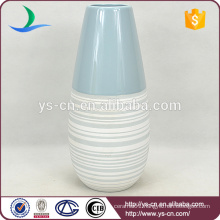 new design 2 color ceramic chinese floor vases for lobby decoration