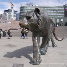 Жизнь-Размер открытый бронза бенгальская большая статуя тигра