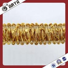 Home Textile Decorative Trim Ribbon Fralda de cortina elegante