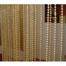 Cortina de la cadena de la bola del metal del oro para los divisores de la pantalla y de la habitación