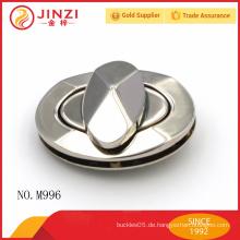 Hochglanz glänzende Nickel Farbe Metall Handtaschen lock