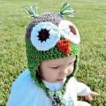 Owl Baby Hat Crocheted Owl Baby Hat Crochet Owl Beanie