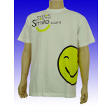 Unisex White Smile Printed T-Shirt