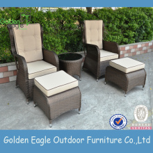 Muebles de mimbre Patio Sofá Set Home Furniture