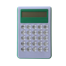 Button battery powered 8 digit calculator with voice